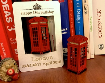 Unique Birthday Card, Luxury Gift Card, Greeting 3d pop up Card, London Telephone Booth, England, Best Birthday Gift for wife, Gift husband