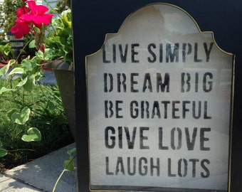 Live Simply Framed Wall Decor