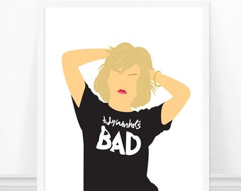 Blondie Art Print - Deborah Harry Portrait Art - Debbie Harry - Minimalist Portrait - Blondie Poster