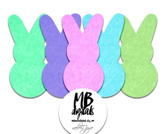EASTER BUNNY PEEPS, Easter Clipart, Bunny Clipart, Felt Bunny Peeps, 5 Felt Easter Bunny Peeps, Clip Art