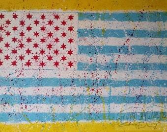 Chimerica- Original Wall Art, Acrylic on 30x40 Canvas