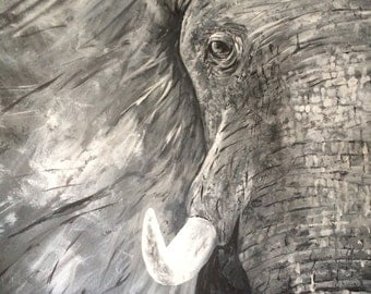 Endangered......fine art with a twist/elephant