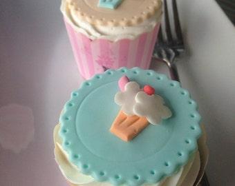 1950's Milkshake Cupcake Topper