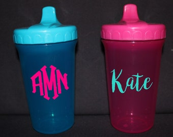 Monogrammed/Personalized Sippy Cups