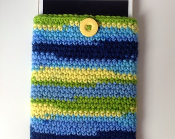 Tablet case (small) - Blue/green