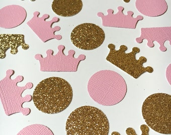 200 Royal Princess Confetti | Pink and Gold theme | First Birthday | Babyshower decor