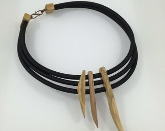 Black ELECTRO tribal necklace