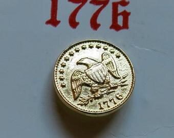 La Mode 1776 Bicentennial Eagle Button Card