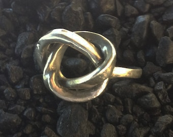 Silver Infinity Knotted Ring