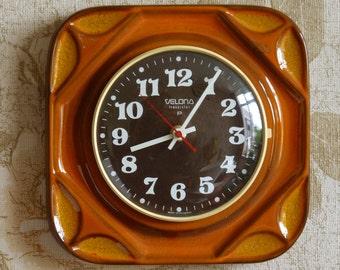 Funky vintage Velona ceramic clock