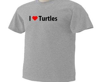 I Love Turtles Wildlife Reptile T-Shirt