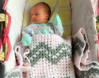 Zig Zag chevron baby blanket