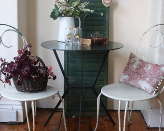 Vintage French Metal Garden Table in Hunters Green