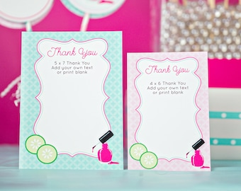 Spa Thank You Card INSTANT DOWNLOAD Printable Thank You Card by Printable Studio