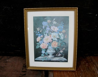 Albert Williams - Albert Williams Print - Floral Print - Flower Picture - Vintage Picture - Floral Still Life - Shabby Vintage - Cottage