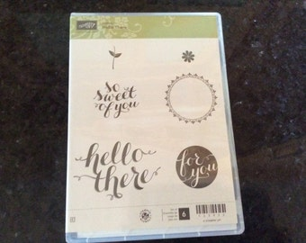 """Stampin Up """"Hello There"""" Hostess Stamp set"""