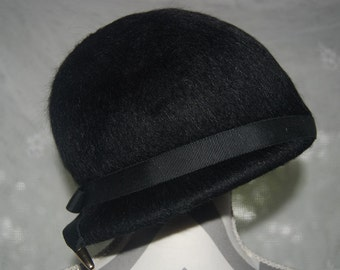 Black Mohair Hat by Mahara with Union Tag