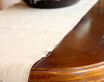 Ivory Burlap Table Runner Modern Rustic Home Decor Rustic Elegant Style Decorating | Burlap Runner