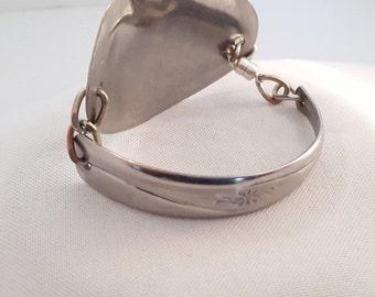 Handcrafted spoon bracelet, Flatware jewelry, Utensil jewelry, Stainless steel bracelet, Bracelet spoon, Re Purposed spoon bracelet