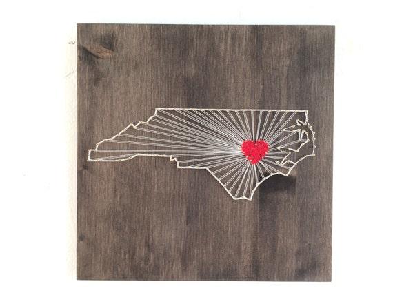 North Carolina String Art States Decor North Carolina Wall Art