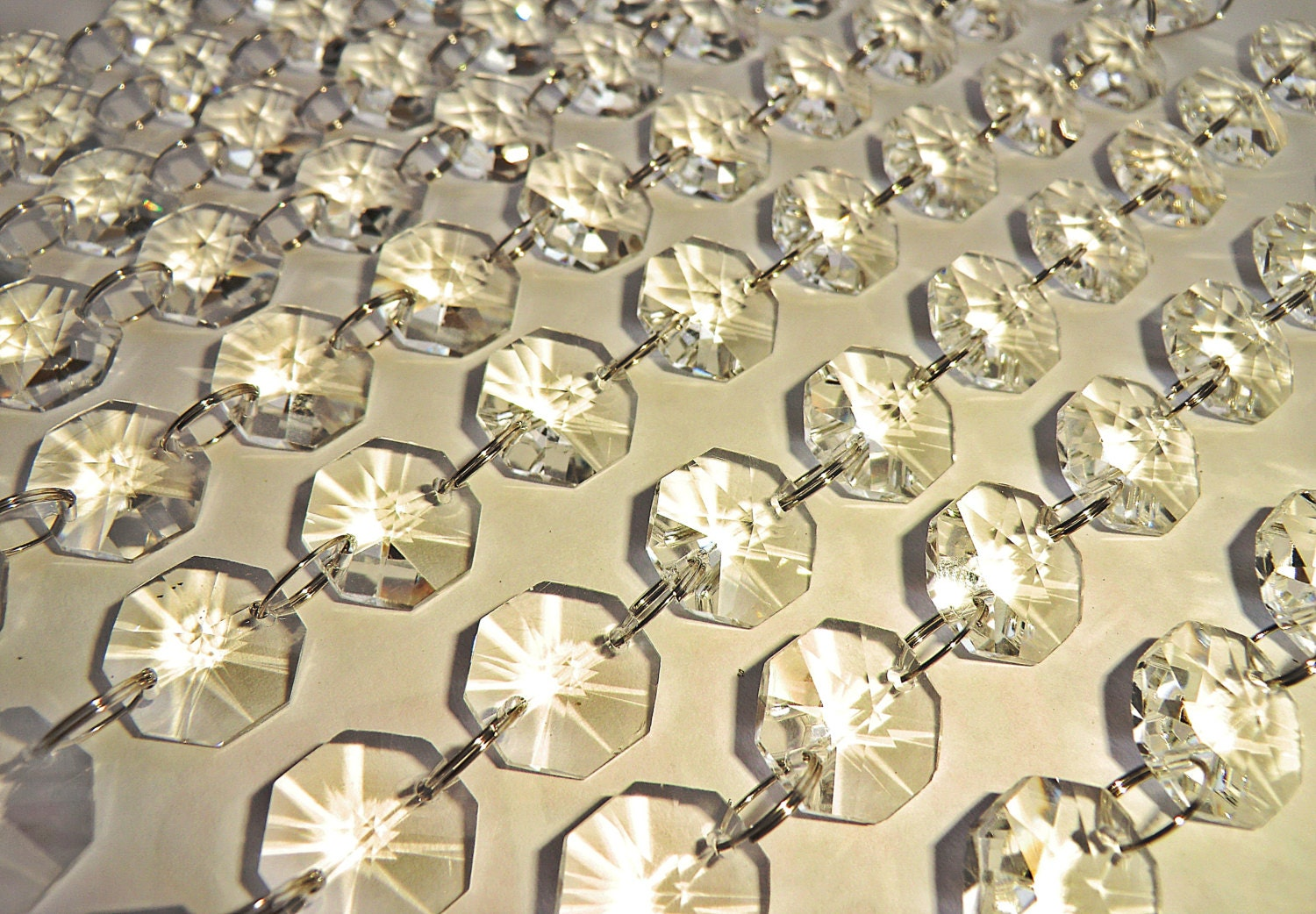 16mm Clear Deco Chandelier Drops Crafts Beading Parts Glass ...