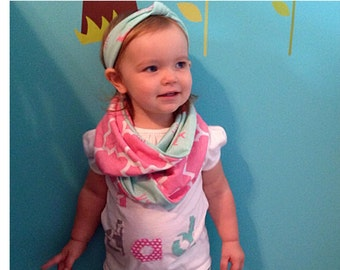 Mint fawn knot headband-Mint-Fawn-Knotted headband-Baby Girl-Baby deer-Pink Deer-Trendy Baby-Headband