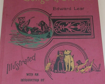 Vintage Children's Book - Nonsense Songs and Stories by Edward Lear - Facsimile of 1894 Edition