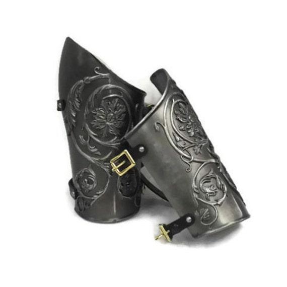 Larp Armor Medieval Negroli bracers.