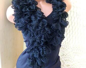 Women scarf Handmade scarf Black Women Clothing Accessory lacy scarf