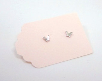 Silver Butterfly Stud Earrings - Tiny Butterfly Earrings - Sterling Silver Earrings - Insect Studs - Butterfly Studs - Small Butterflies
