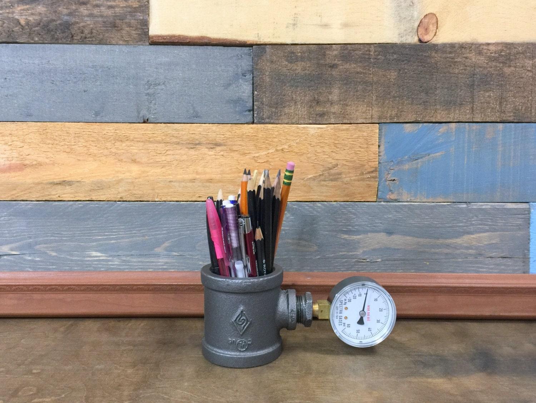 Industrial Pen Holder Pencil Holder Desk Storage by
