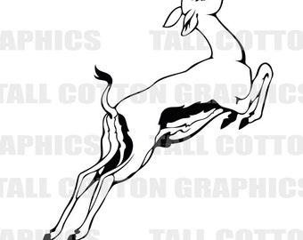 SPRINGBOK ANTELOPE Vinyl Decal Sticker decor #WL083