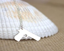 Gun Necklace - Desert Eagle, handgun, gun jewelry, pistol, weapon, firearm