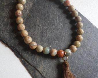 Ethnic bracelet beads of Jasper