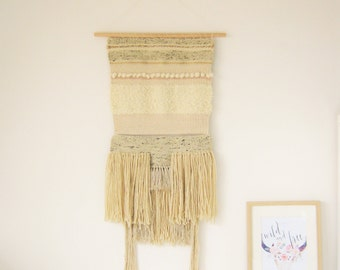 "XXL handwoven wall hanging ""Bohemian Bride""/wall hanging/weaving/tapestry/byBefore Lou Rock/fibert art/handwoven wall hanging/made in France"