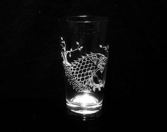Game of Thrones Sansa Stark Sigil -Pint Glass