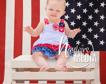 Baby Child 4th of July American Photography Backdrop - Patriotic Photography Background - Digital Backdrop Idea for Solider Family Portrait