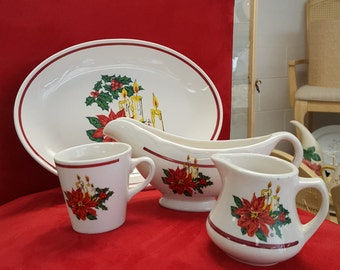 Homer Laughlin Christmas Set