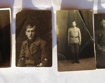 Vintage Russian photos. 4 pieces.