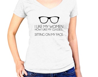 Lesbian Shirt I Like My Women Like I Like My Glasses Sitting On My Face Gay Pride Gay Tshirt LGBT T-Shirt Lesbian Gift Gay Marriage