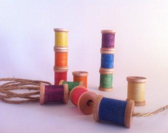 Preschool Lacing Activity // Stacking Toy // Montessori Math Manipulatives // Waldorf Patterning Game // Natural Handmade // Nursery Decor