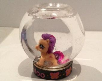 Personalized Snowglobes - My Little Pony Snow Globe - Scootaloo