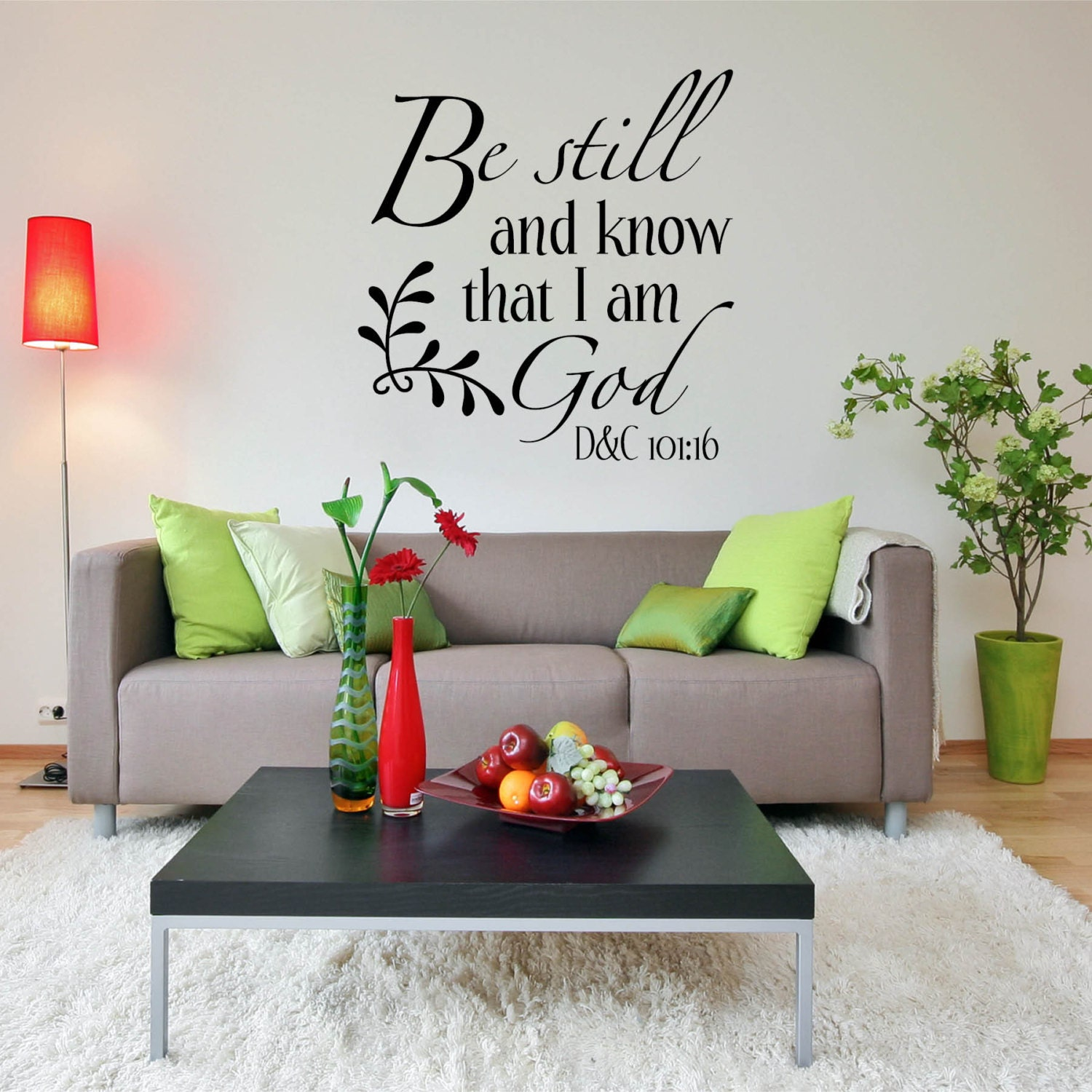 Religious wall decal quote dining room decor family room for Dining room wall quote decals