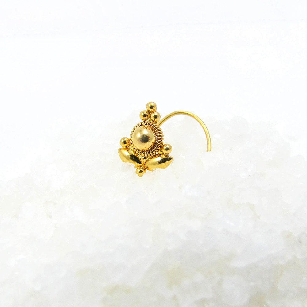 piercing gold tribal il indian solid p stud nose fullxfull ring tragus nostril