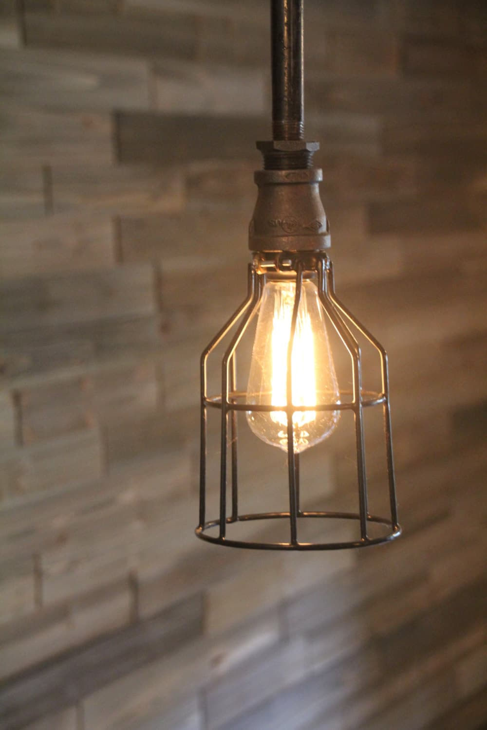 Wire Light Cage For Hanging Lights Edison Bulb Kitchen