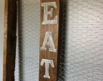 Rustic EAT ~ Kitchen Sign ~  wooden wall art