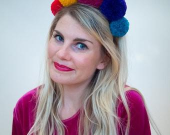 Colourful Giant Pom Pom Headband