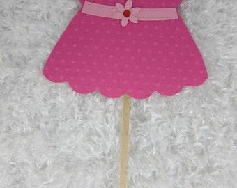Dress Girl Centerpiece, Baby Shower Table Decoration,Cake Topper Centerpiece