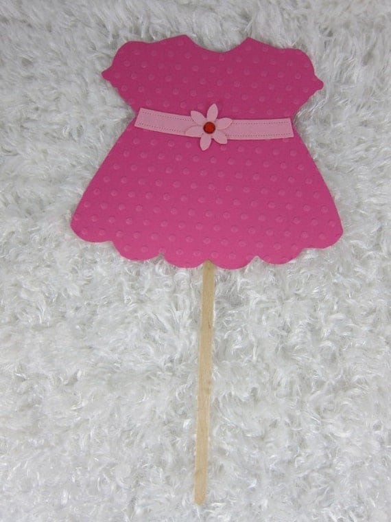 dress girl centerpiece baby shower table decoration cake topper