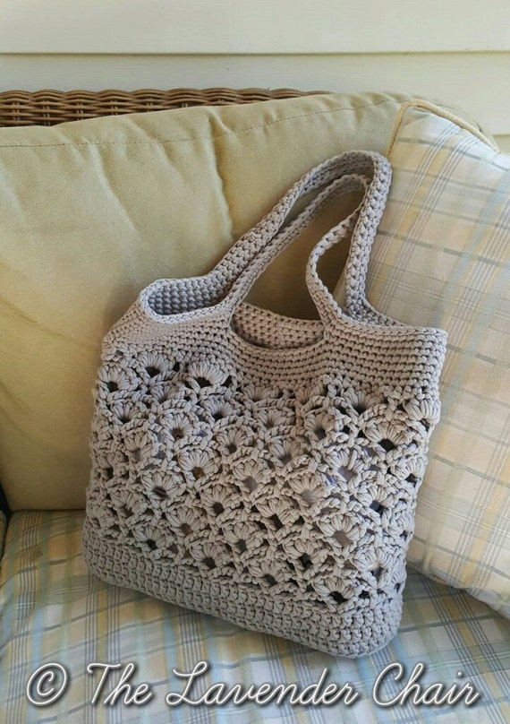 Daisy Fields Market Tote Crochet Pattern Pdf File Only